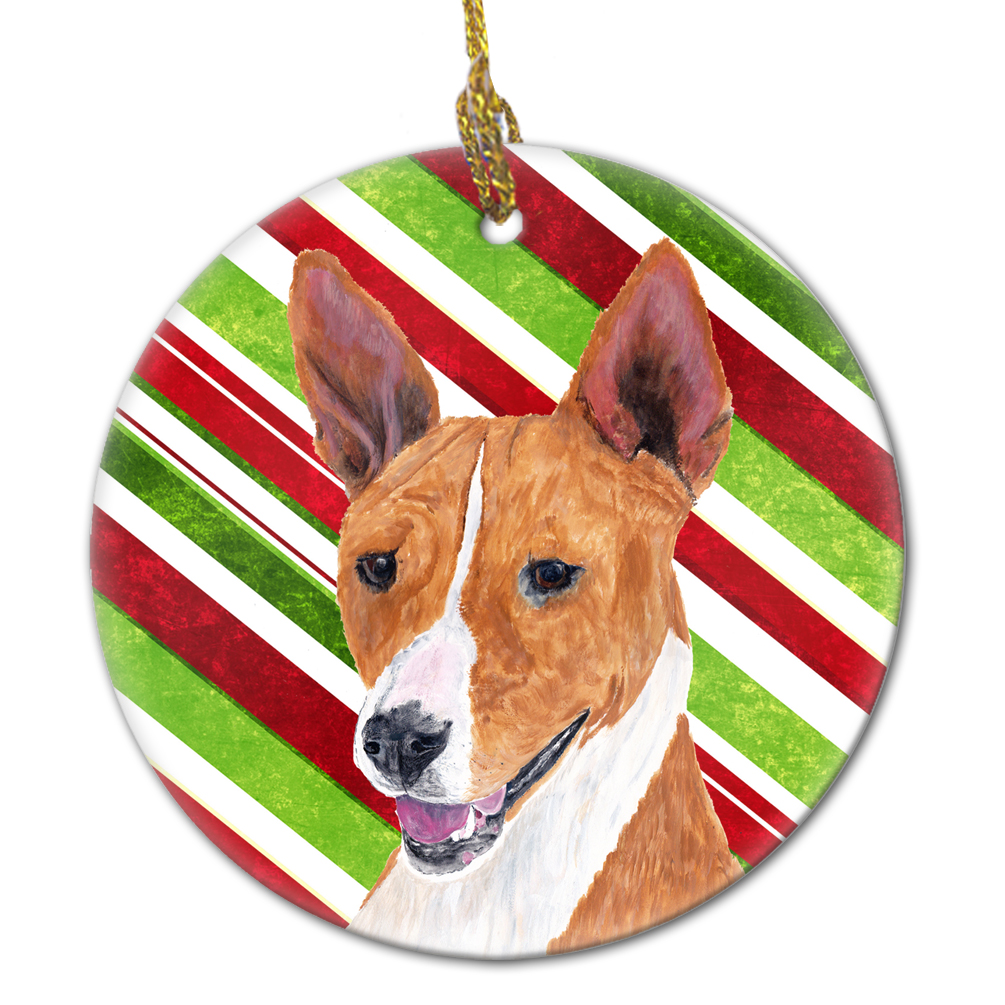 Carolines Treasures SS4543-CO1 Chihuahua Candy Cane Holiday Christmas Ceramic Ornament SS4543 3 in Multicolor