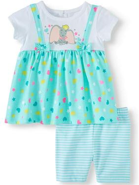 Disney Dumbo Baby Girl Jumper and Short Set, 2- Piece Set