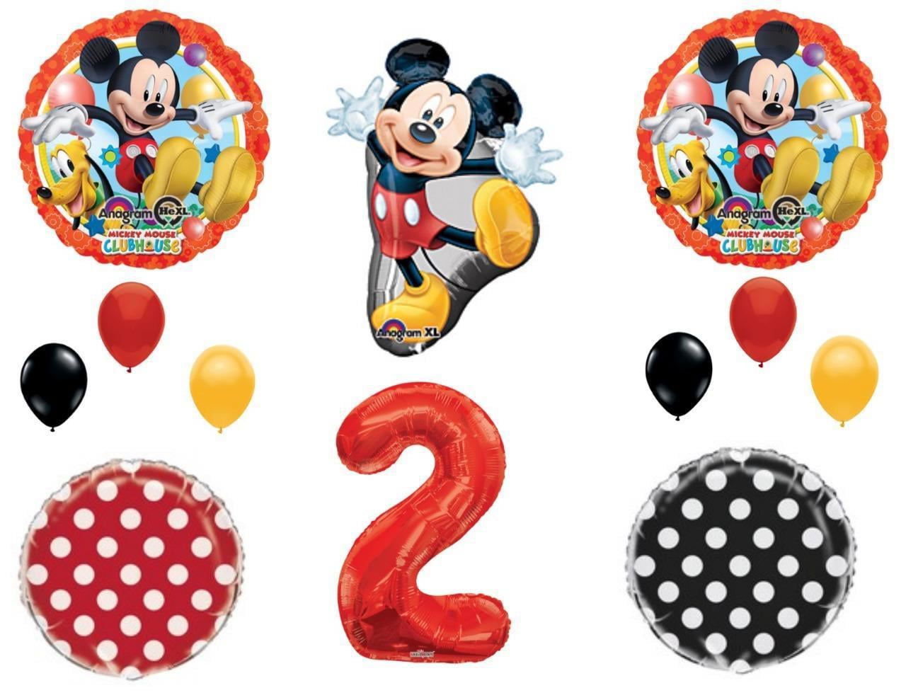 2nd Mickey Mouse Two Dles Birthday Party Balloons Decoration Supplies Second Walmart Com