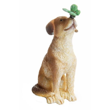 Miniature Fairy Garden Dog With Butterfly, Miniature fairy garden Dog with Butterfly figurine. By Marshall Home and