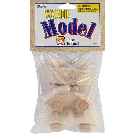 Unfinished Wooden Race Cars: 2.75 inches, 3 pack