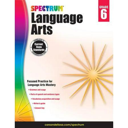 - Carson Dellosa CD-704593 Spectrum Language Arts Gr 6