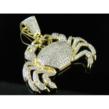 Yellow Gold Crab Charm - 10K Yellow Gold Cancer Zodiac Sign Crab 1.5