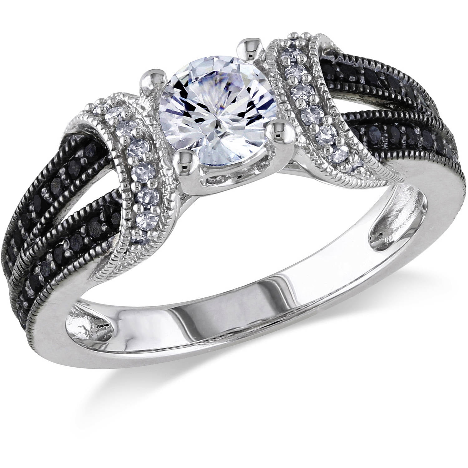 4 Carat Tw Black And