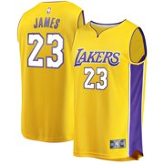 LeBron James Los Angeles Lakers Fanatics Branded Youth Fast Break Replica Jersey Gold - Icon Edition
