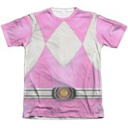 Mighty Morphin Power Rangers Pink Ranger (Front Back Print) Mens Shirt