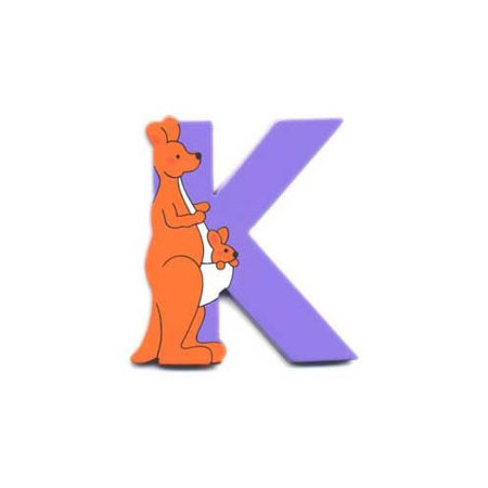 Wooden Kangaroo Letter K Magnet by The Toy -