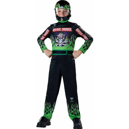 Grave Ghoul Child Halloween Costume (Monster Jam Grave Digger Boys' Child Halloween)
