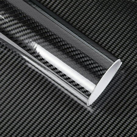Black 5D Vinyl Film Carbon Fiber Car Wrap Film Carbon Fiber Car Sticker Accessory Auto Film 20mm Black Carbon Fiber