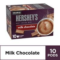 Hershey's Milk Chocolate Hot Cocoa Keurig K Cup Pods, 10 ct - K-cups, 5.15 oz Box