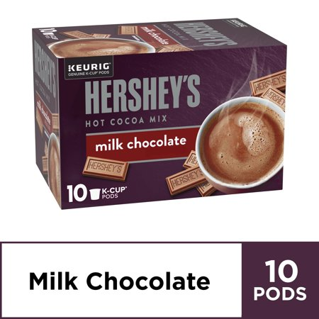 Hershey's Milk Chocolate Hot Cocoa Keurig K Cup Pods, 10 ct - K-cups, 5.15 oz Box Maple Hot Chocolate