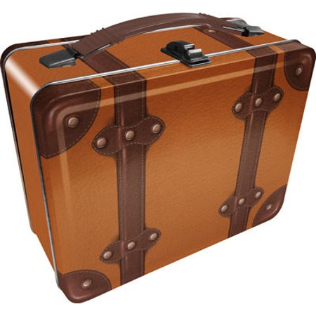 Lunch Box - Steamer Luggage - Tan Gen 2 Metal Tin Case New - Metal Lunchbox
