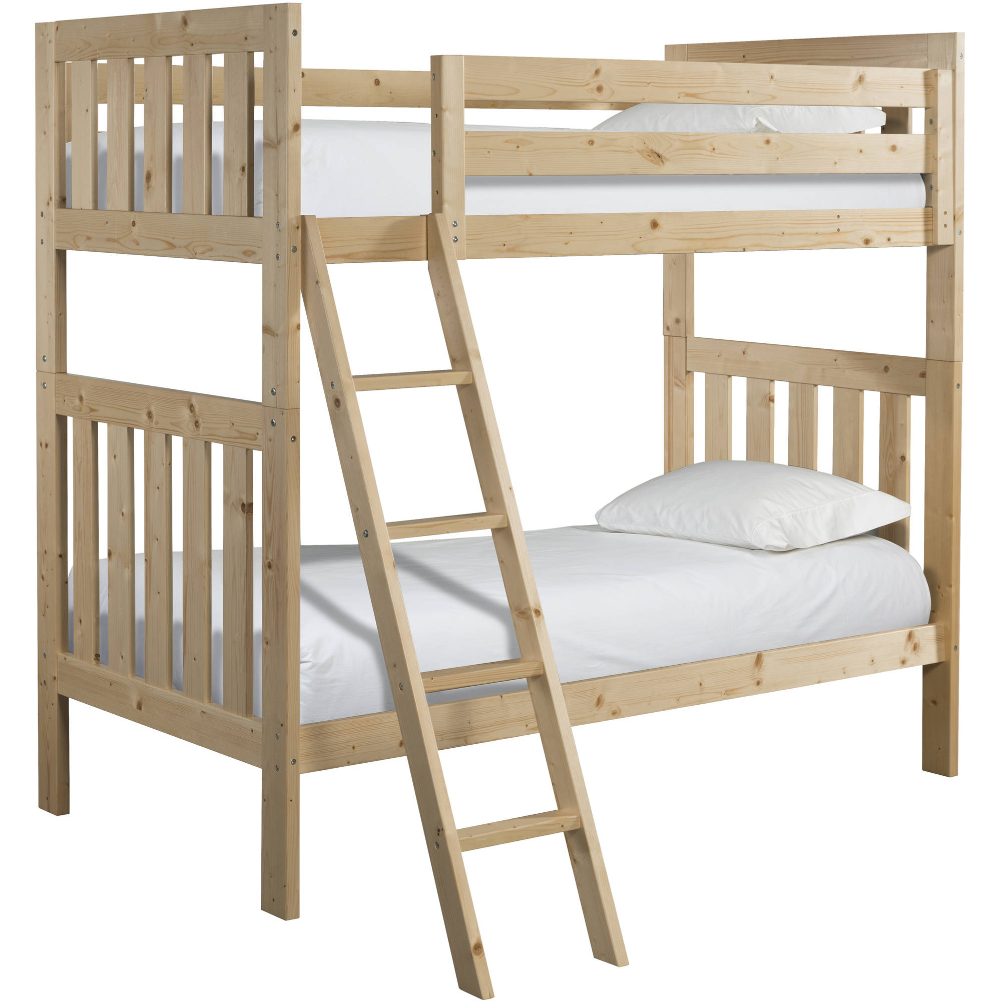 Canwood Lakecrest Twin Over Twin Bunk Bed, Natural