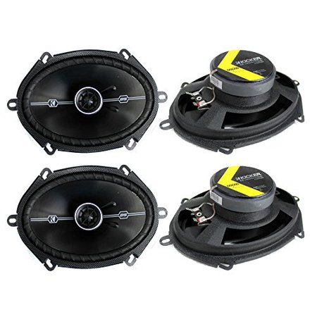 "4) Kicker 41DSC684 D-Series 6x8"" 400 Watt 2-Way 4-Ohm Car Audio Coaxial Speakers"