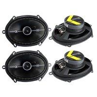 """4) Kicker 41DSC684 D-Series 6x8"""" 400 Watt 2-Way 4-Ohm Car Audio Coaxial Speakers"""