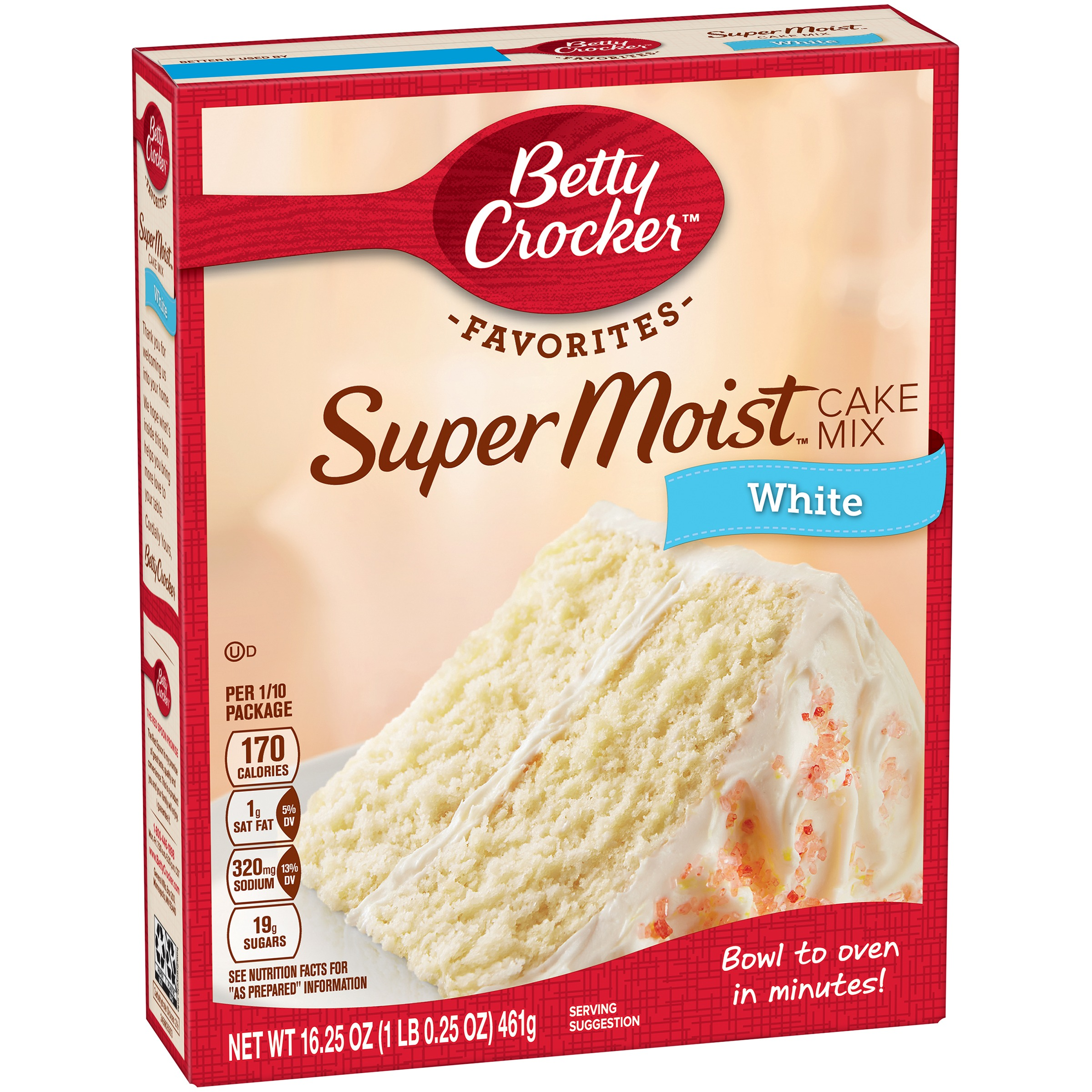Betty Crocker White Cake Mix, 18.25 oz by General Mills Sales, Inc.