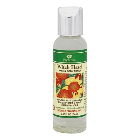 Aloe Seed - Bretanna - Witch Hazel Face & Body Toner Geranium Infused with Geranium Rose Hip Seed + Aloe Essential Oils - 2.25 oz.