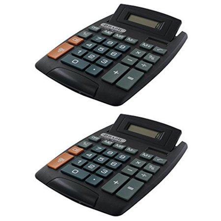 2 X Large Jumbo Calculator Big Button 8-Digit Desktop Math Display Solar Battery