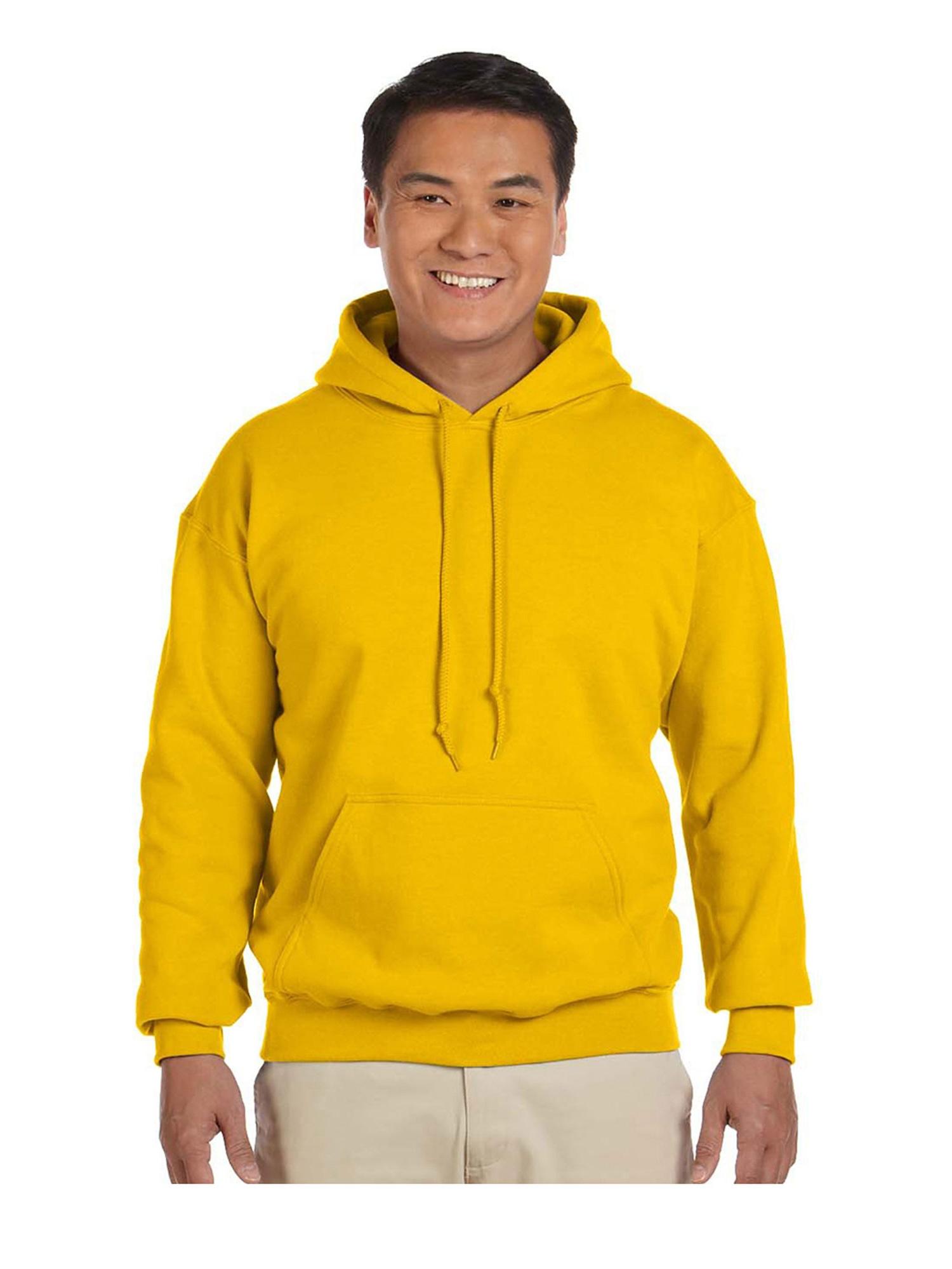 Gildan Men's Rib Knit Pouch Pocket Hooded Sweatshirt, Style G18500