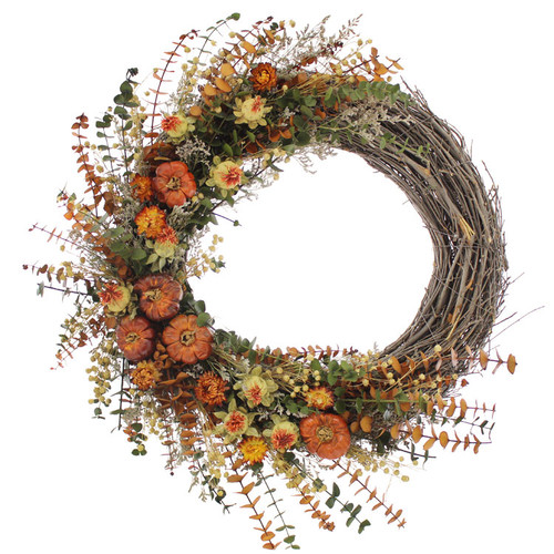 Urban Florals Spicy Pepper Harvest 22'' Natural Elements Wreath