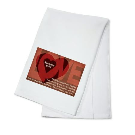 839 Bath (Romans 8:39 - Inspirational - Lantern Press Artwork (100% Cotton Kitchen Towel))