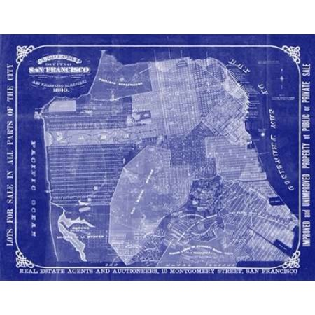 Adam shaw cartography stretched canvas art san francisco blueprint adam shaw cartography stretched canvas art san francisco blueprint small 11 x 14 inch malvernweather Image collections