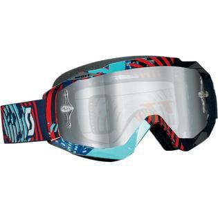 Scott Hustle MX Offroad Goggles Vinyl Blue/Red/Chrome Lens