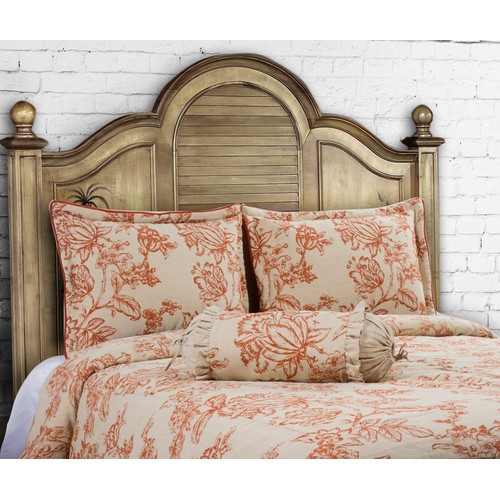 14 Karat Home Inc. French Country 3 Piece Duvet Cover Set