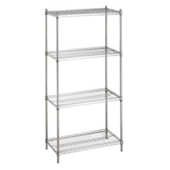 r u0026b wire su243672 24 in  x 36 in  x 72 in  shelving unit with four wire shelves