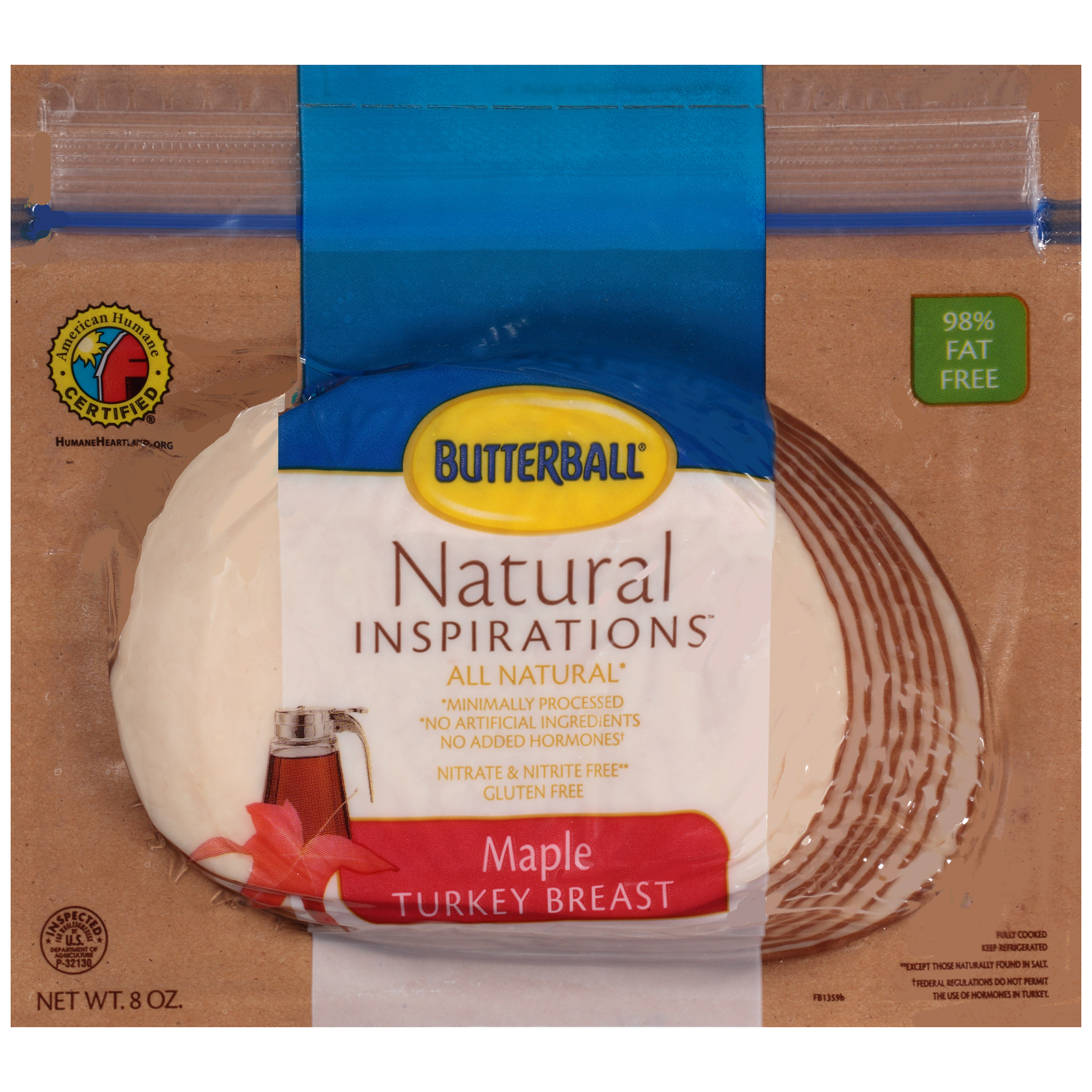 Butterball® Natural Inspirations™ Maple Turkey Breast 8 oz.