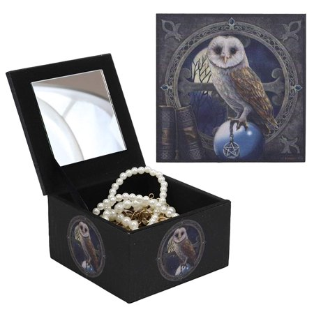 Ebros Witching Hour Pentagram Owl On Scrying Ball Spell Keeper Decorative Jewelry Box with Mirror Mini Trinket Box Gothic Wicca Art Figurine As Halloween Decor Artwork by Lisa Parker](Halloween Parker Co Events)