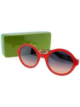 5b297f13e0c6 Product Image Kate Spade KHRISTA-S-S29-52 Womens Orange Frame Blue Lens  Genuine Sunglasses