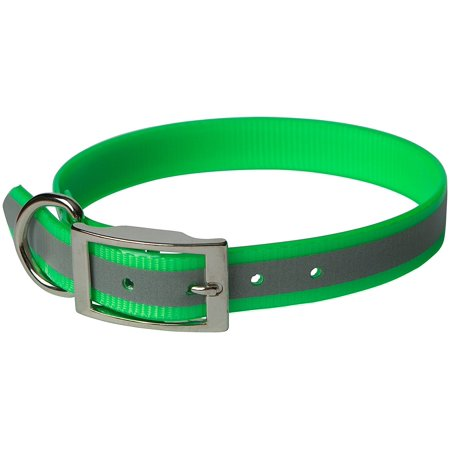 (SunGlo Reflective Dog Collar 23 inch Green)