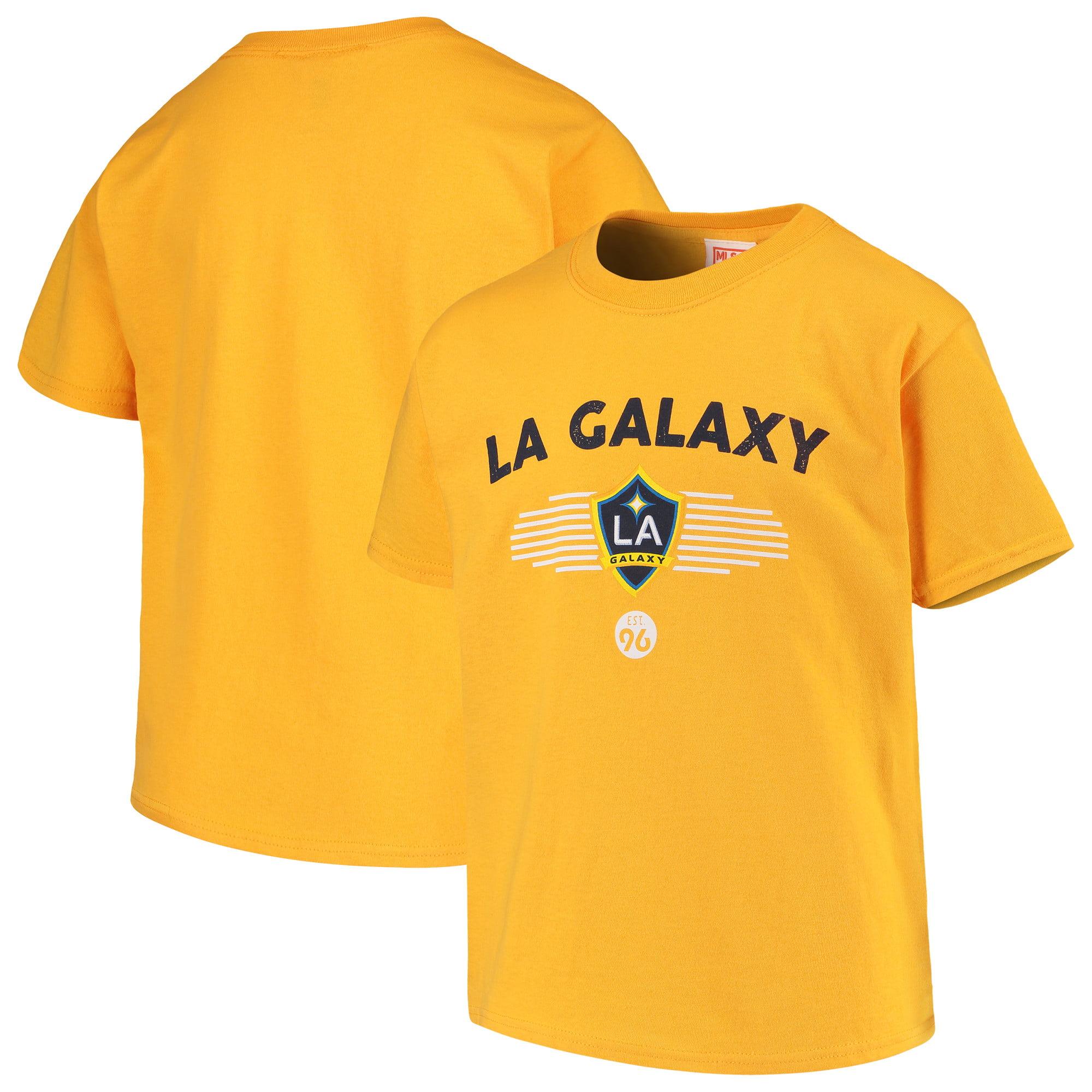 Youth Majestic Gold LA Galaxy Stunning Performance T-Shirt