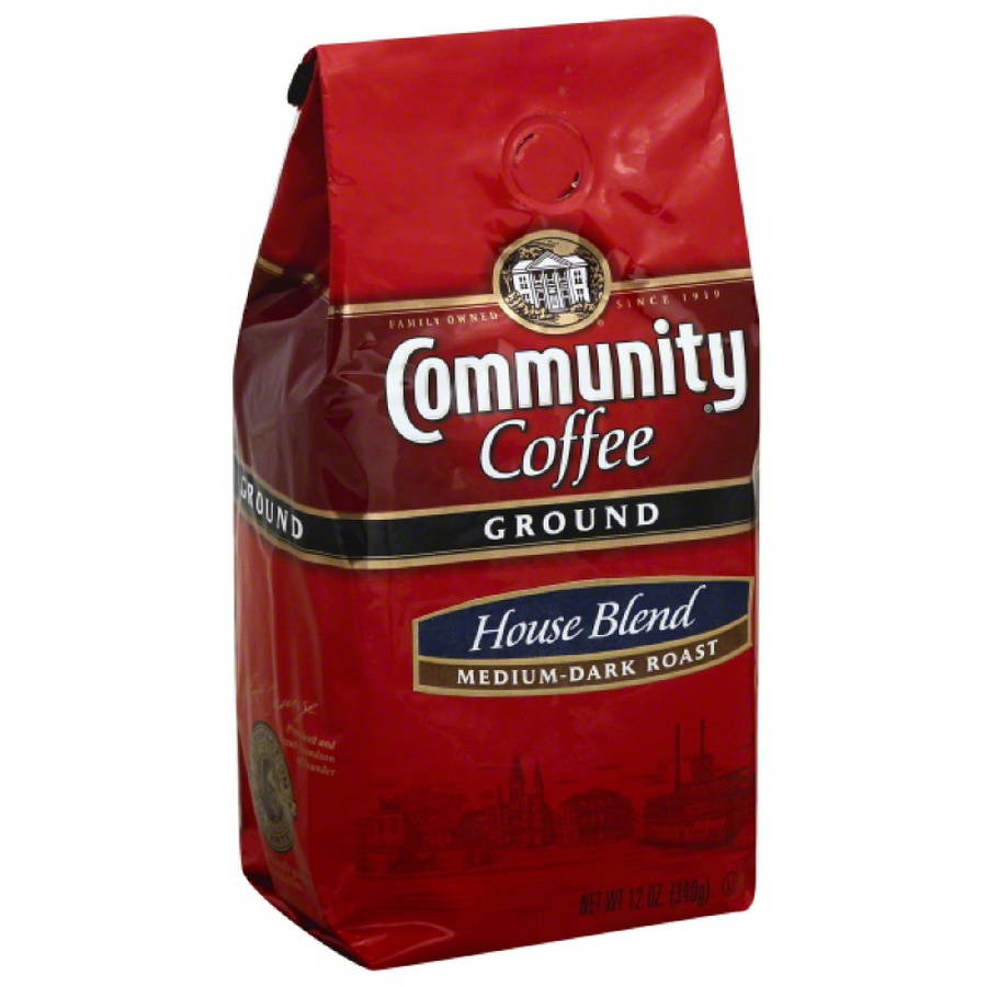Community Coffee House Blend Medium-Dark Roast Ground Coffee, 12 oz, (Pack of 6)