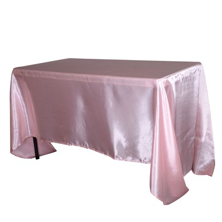 60 Inch X 102 Inch Tablecloth - Light Pink 60 Inch x 102 Inch Rectangular Satin Tablecloths