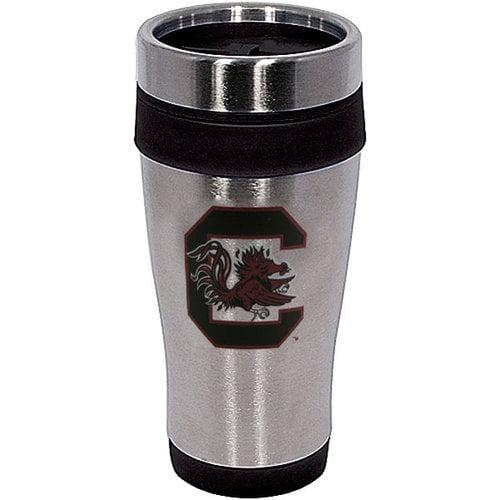 NCAA - South Carolina Gamecocks 16 oz. Stainless Steel Color Stripe Travel Mug
