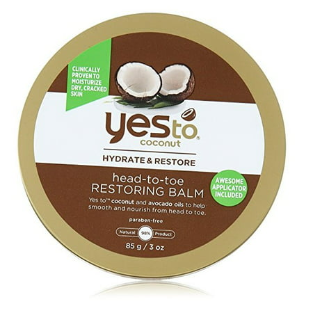 Yes To Coconut Hydrate & Restore Head-to-toe Restoring Balm, 3 Oz + Beyond BodiHeat Patch, 1 Ct
