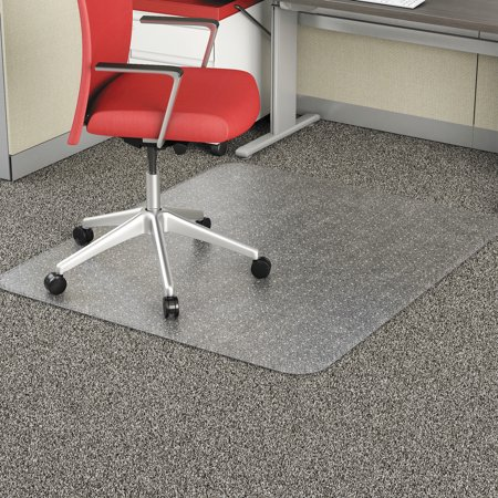 Alera Studded Chair Mat for Flat Pile Carpet, Rectangle, 46