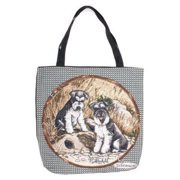 "Schnauzer Dog Decorative Shopping Tote Bag 17"" x 17"""