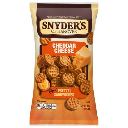 Cheddar Pretzel - Snyder's of Hanover Pretzel Sandwiches, Cheddar Cheese, 8 Oz
