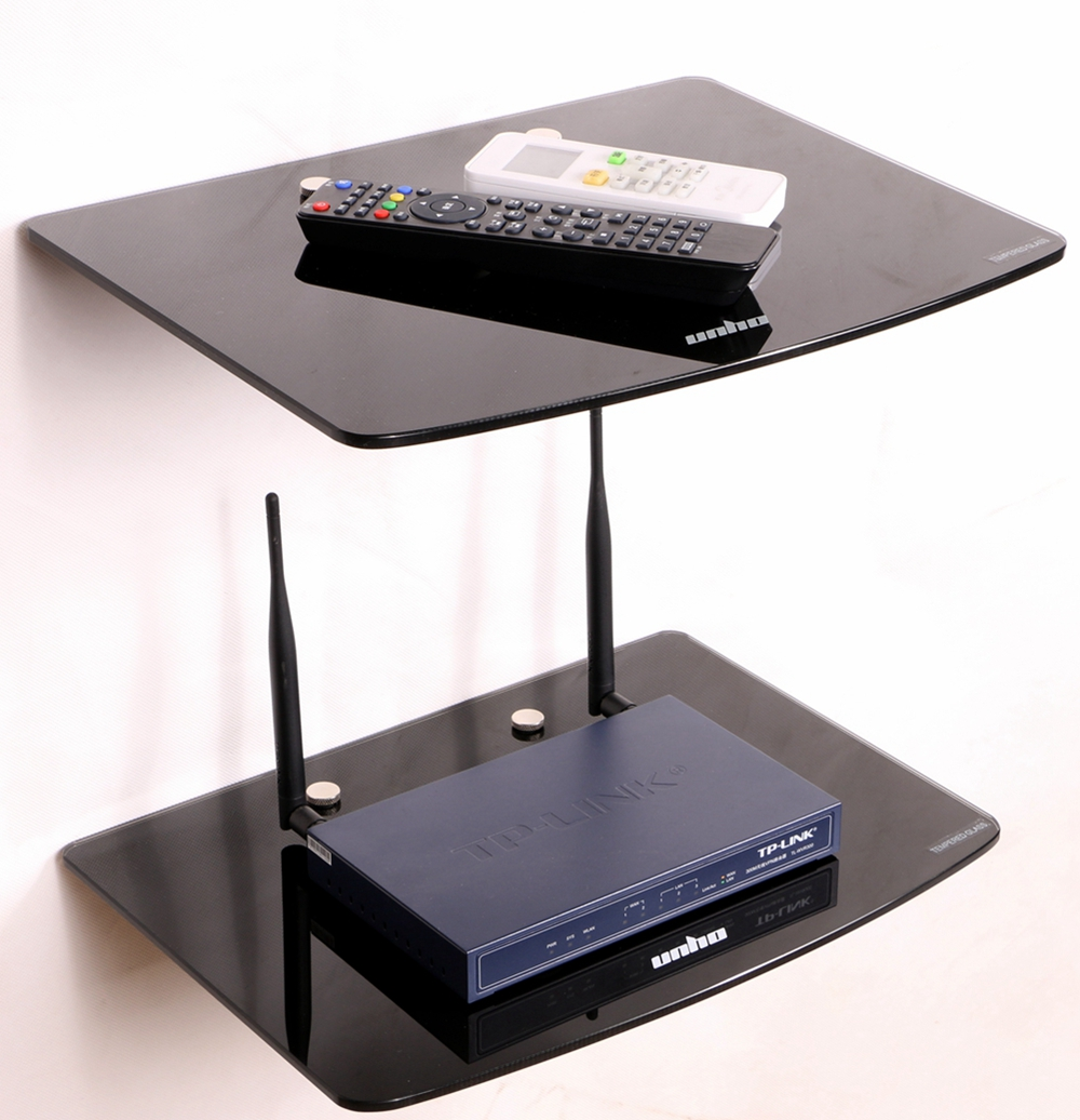 Unho Dvd Player Wall Mount Tempered Glass Floating Stand