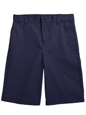 Boys Flat Front Twill School Uniform Shorts (Big Boys, Little Boys)