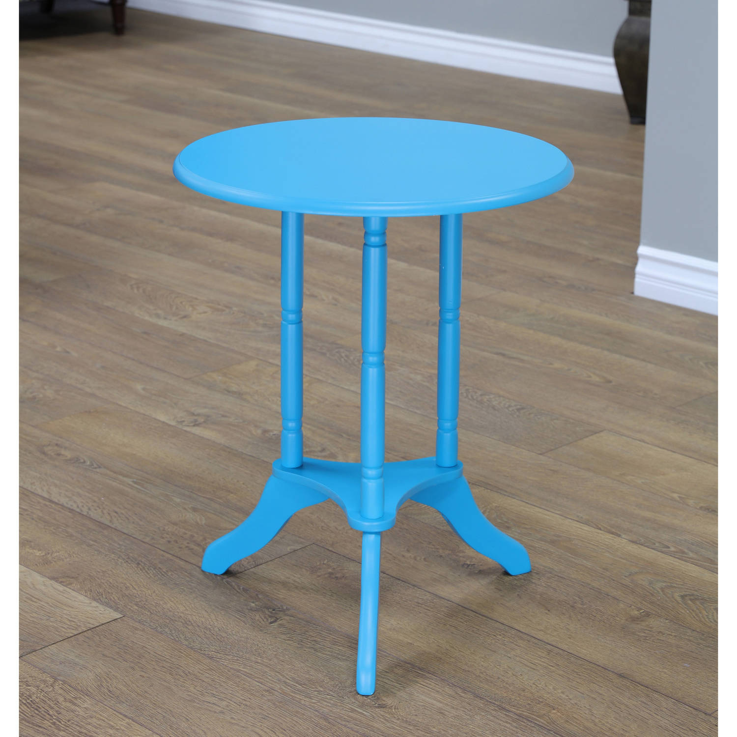 Home Craft Round End Table, Multiple Colors by Mega Home