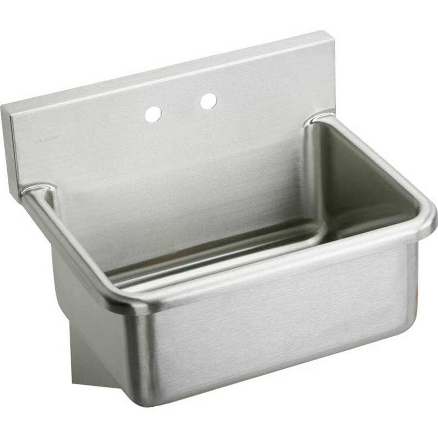 Elkay EWS31202 Commercial Scrub Sink with 2 Faucet Holes