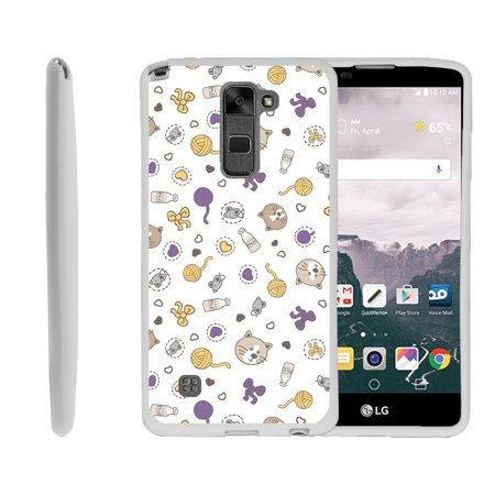 Flexi Cat - LG G Stylo 2, LG G Stylus 2 LS775, Flexible Case [FLEX FORCE] Slim Durable TPU Sleek Bumper with Unique Designs - Cat Play Things