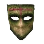 Adult's Scarecrow Medico Green Party Festival Tie Mask Costume Accessory