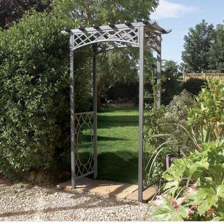 Rowlinson Archwr Wrenbury Steel Arch With Powder Coated Frame  Gunmetal Grey
