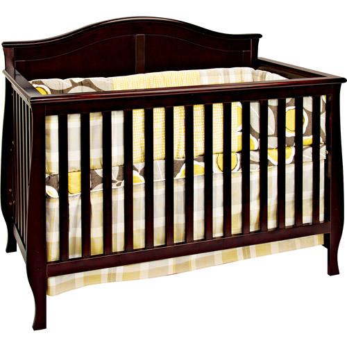 Child Craft Camden 4-in-1 Convertible Fixed-Side Crib, Jamocha