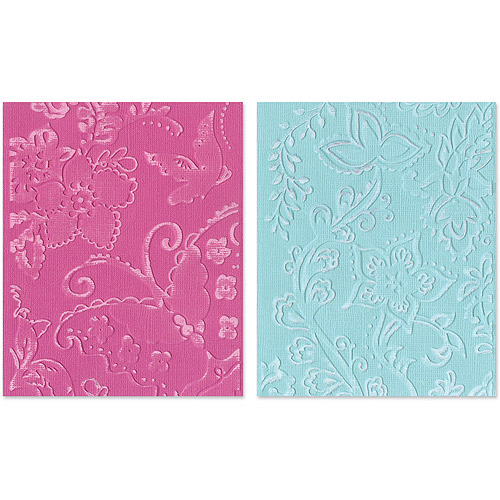 Sizzix Textured Impressions Embossing Folders, Far Out Florals